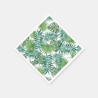 Guardanapo De Papel A aguarela sae do teste padrão tropical da folha