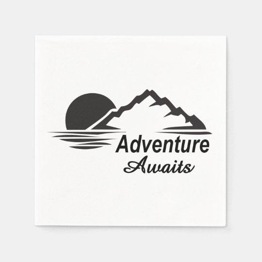 Guardanapo De Papel A aventura espera o excelente da natureza fora