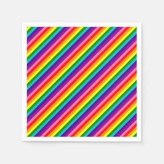 Guardanapo De Papel A bandeira colorida do arco-íris listra o teste