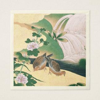 Guardanapo De Papel A cachoeira asiática das pombas floresce os