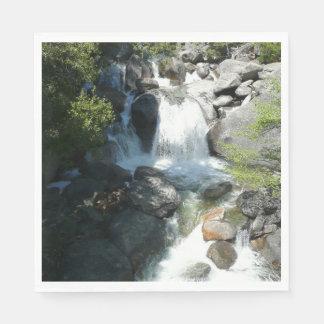 Guardanapo De Papel A cascata cai no parque nacional de Yosemite