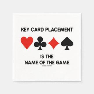 Guardanapo De Papel A colocação do cartão chave é o nome de The Game