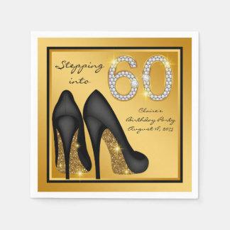 Guardanapo De Papel A festa de aniversário da mulher 60th
