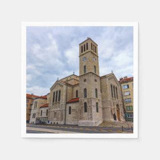 Guardanapo De Papel A igreja de St Joseph em Sarajevo. Bósnia e Herz