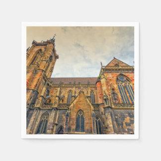 Guardanapo De Papel A igreja de St Martin, Colmar, France
