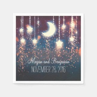 Guardanapo De Papel a lua e as estrelas enchanted romântico