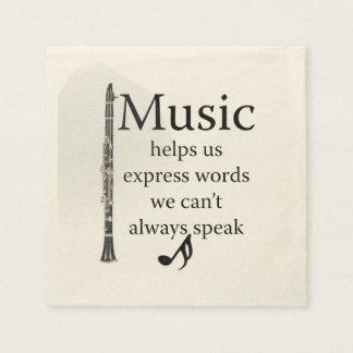 Guardanapo De Papel A música dos clarinetes ajuda-nos a expressar a