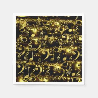 Guardanapo De Papel a música dourada nota o teste padrão