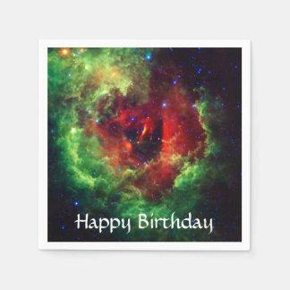 Guardanapo De Papel A nebulosa cor-de-rosa do Rosette dos unicórnios