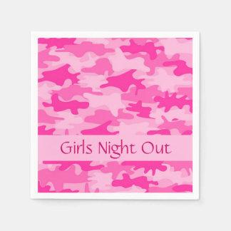 Guardanapo De Papel A noite cor-de-rosa das meninas da camuflagem de