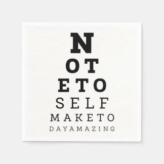 Guardanapo De Papel A nota do teste do Eyesight ao auto faz hoje a