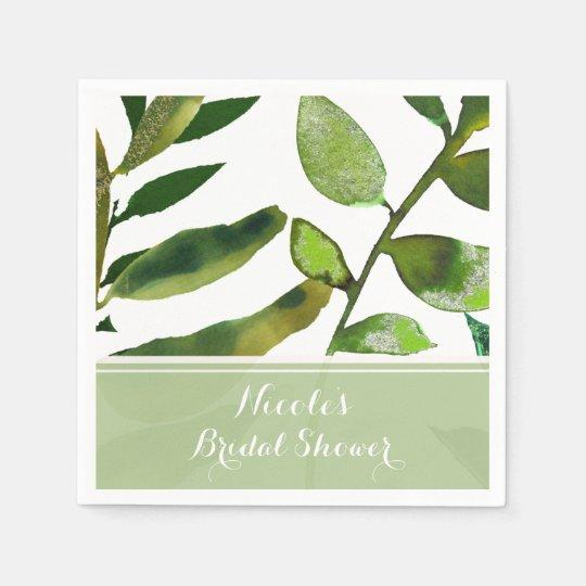 Guardanapo De Papel A planta Glam botânica verde sae do casamento