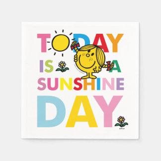 Guardanapo De Papel A senhorita pequena Luz do sol | é hoje um dia da