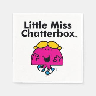 Guardanapo De Papel A senhorita pequena pequena Chatterbox da
