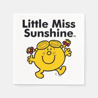 Guardanapo De Papel A senhorita pequena pequena Luz do sol da