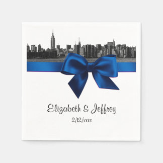 Guardanapo De Papel A skyline larga de NYC gravou o casamento dos