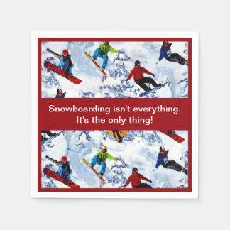 Guardanapo De Papel A snowboarding não é tudo