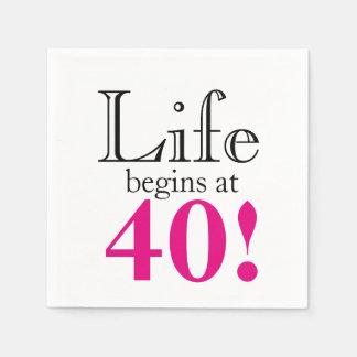 Guardanapo De Papel A vida começa em 40