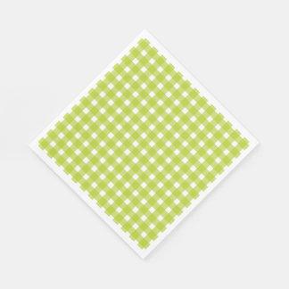 Guardanapo De Papel A xadrez verde & branca do guingão verifica a