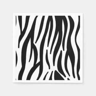 Guardanapo De Papel A zebra preto e branco moderna listra o teste