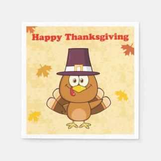 Guardanapo De Papel Acção de graças feliz bonito Turquia