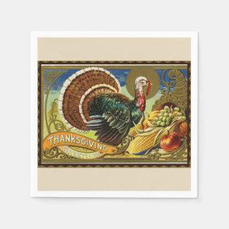 Guardanapo De Papel Acção de graças Turquia do vintage e vegetais