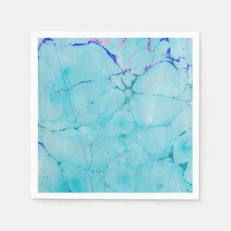 Guardanapo De Papel Aguarela do abstrato da pintura do mármore da
