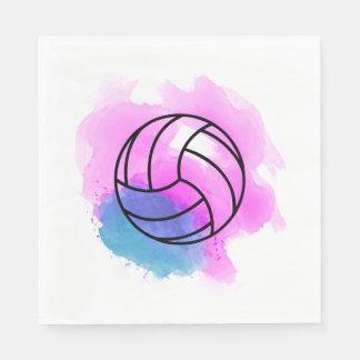 Guardanapo De Papel Aguarela do voleibol