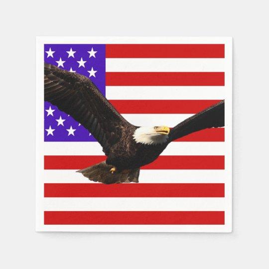 Guardanapo De Papel Águia americana EUA da bandeira de América ... e4793a7b53515