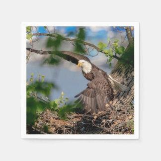 Guardanapo De Papel Águia americana que sae do ninho
