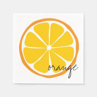 Guardanapo de papel alaranjado do citrino do verão