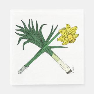 Guardanapo De Papel Alho-porro e Daffodil cruzados