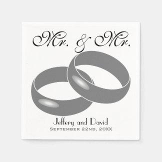 Guardanapo De Papel Alianças de casamento alegres casamento