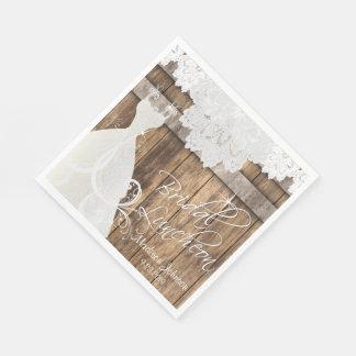 Guardanapo De Papel Almoço do chá de panela - design de madeira do