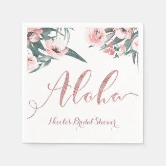 Guardanapo De Papel Aloha chá de panela floral do verão tropical do