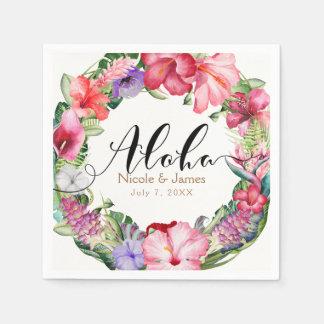 Guardanapo De Papel Aloha festa de casamento floral tropical de Luau
