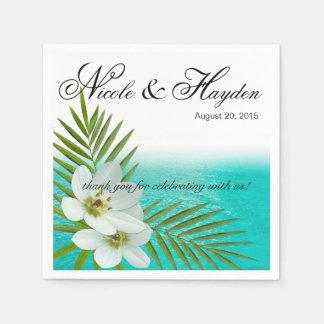 Guardanapo De Papel Aloha flores tropicais da praia