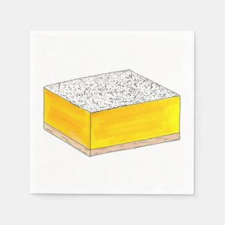 Guardanapo De Papel Amarelo da venda do assar da sobremesa da