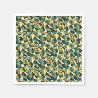 Guardanapo De Papel amarelo dos limões dos abacaxis