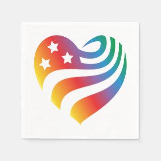 Guardanapo De Papel AmericanHeart - arco-íris