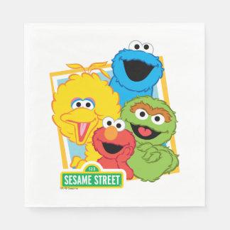 Guardanapo De Papel Amigos do Sesame Street