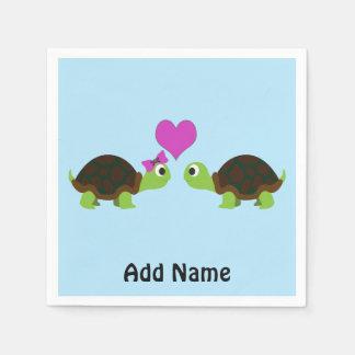 Guardanapo De Papel Amor da tartaruga