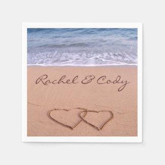 Guardanapo De Papel Amor na praia
