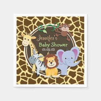 Guardanapo De Papel Animais da selva no impressão animal do girafa de