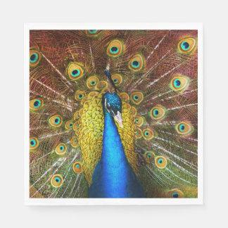 Guardanapo De Papel Animal - pássaro - pavão orgulhoso