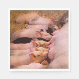 Guardanapo De Papel Animal - porco - comida do conforto