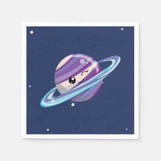 Guardanapo De Papel Aniversário bonito do miúdo da galáxia do espaço