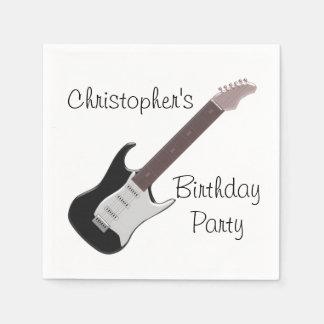 Guardanapo De Papel Aniversário da guitarra elétrica