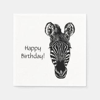 Guardanapo De Papel Aniversário da zebra