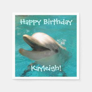 Guardanapo De Papel Aniversário de sorriso customizável do golfinho